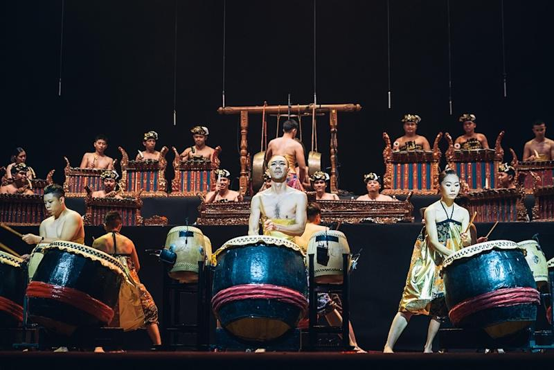 Hands Percussion during a performance at the Kuala Lumpur Performing Arts Centre in October this year. — Picture courtesy of Hands Percussion/Thum Chia Chieh