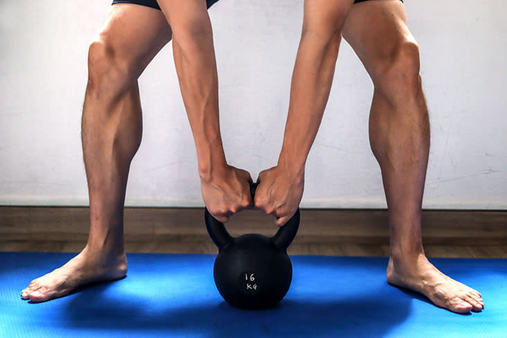 You could have an intense workout with a single kettlebell