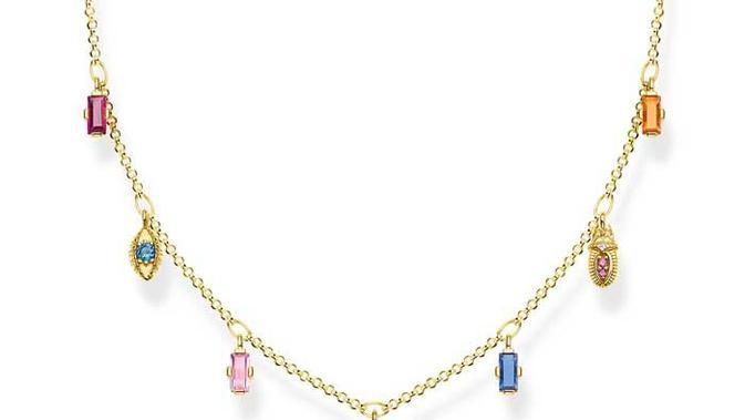 Colourful lucky symbols necklace, £279/dok. Thomas Sabo