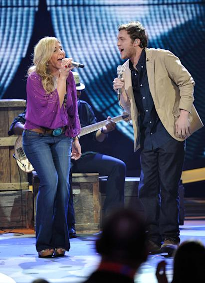 Elise Testone and Phillip Phillips - 4/04/12