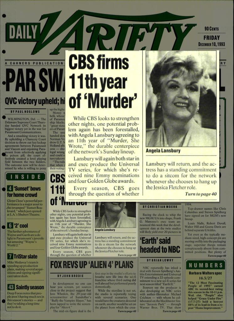 Angela Landsbury Murder She Wrote