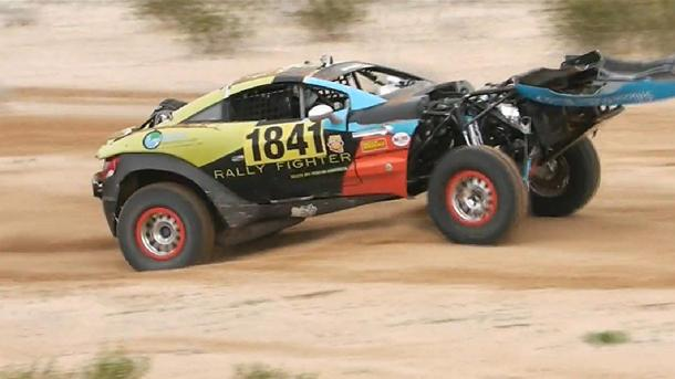 Rally Fighter flips end-over-end, keeps on racing