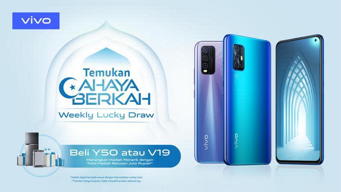 Promo Ramadan Vivo, beli smartphone Vivo berpeluang dapat hadiah air purifier dan kulkas (Foto: Vivo)