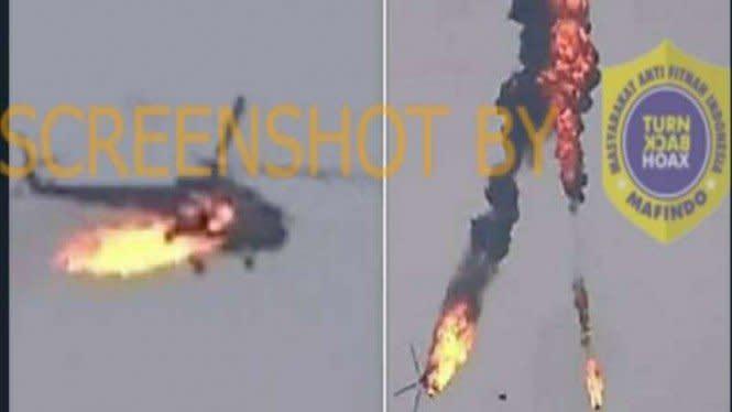 Helikopter Azerbaijan Terbakar dan Jatuh, Cek Faktanya