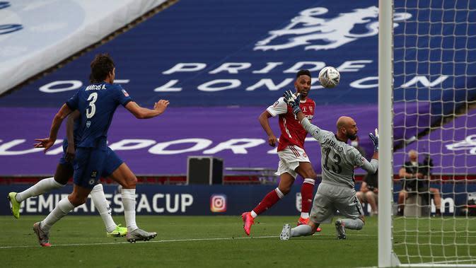 Sempat Tertinggal dari Chelsea, Pierre-Emerick Aubameyang Bawa Arsenal Menjuarai Piala FA