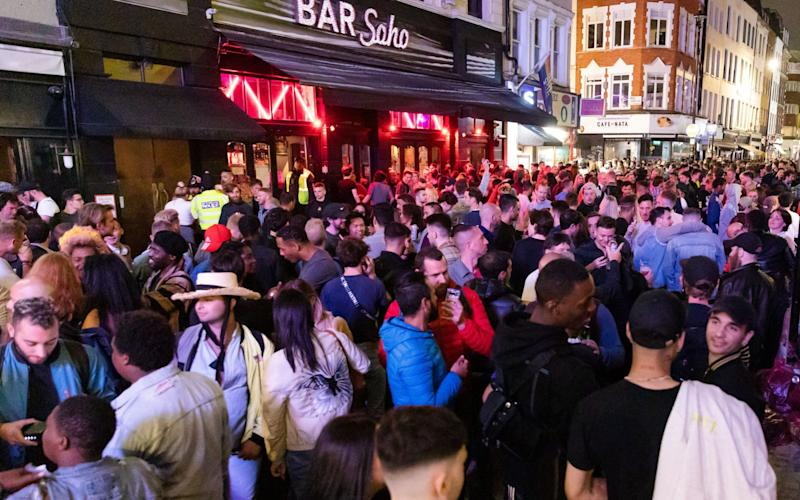 Londoners drink and socialise in the street during 'Super Saturday' - VICKIE FLORES/EPA-EFE/Shutterstock/Shutterstock