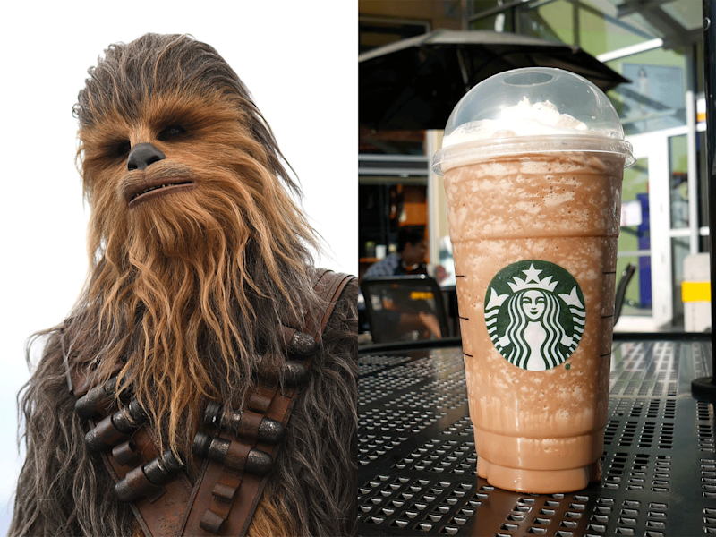 A Chewbacca Frappuccino Exists and It Looks Just Like Your Favorite Wookie