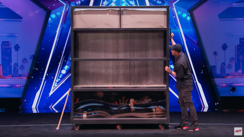 Two years ago he was on the America's Got Talent stage with a very... similar act. Photo: AGT