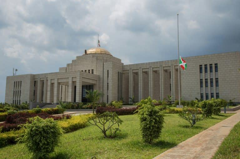 Burundi's national flags were set at half-mast at government buildings