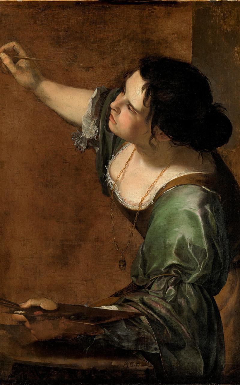 Self Portrait as the Allegory of Painting, oil on canvas - Luciano Romano/Museo e Real Bosco di Capodimonte 2016