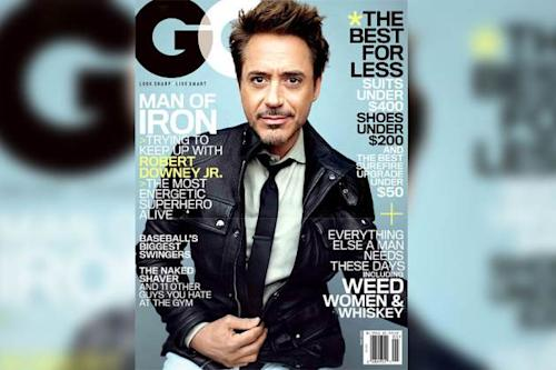 Robert Downey Jr. on cover of GQ (May 2013) -- GQ