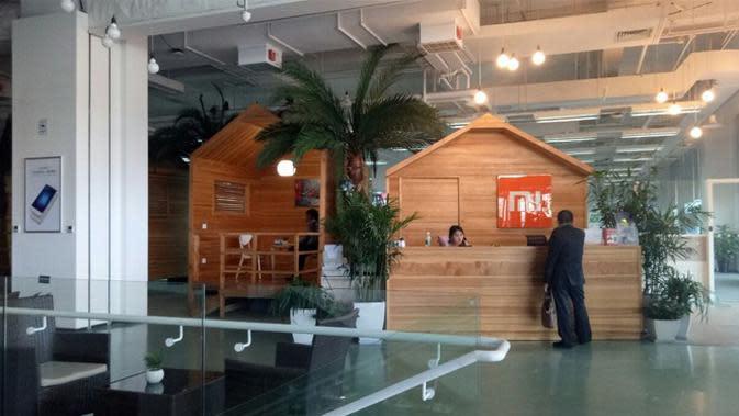 Kantor Xiaomi di lantai 1 digunakan untuk kantor legal dan administrasi. Liputan6.com/Agustin Setyo Wardani