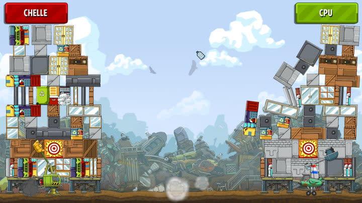 scribblenauts showdown review tower topple