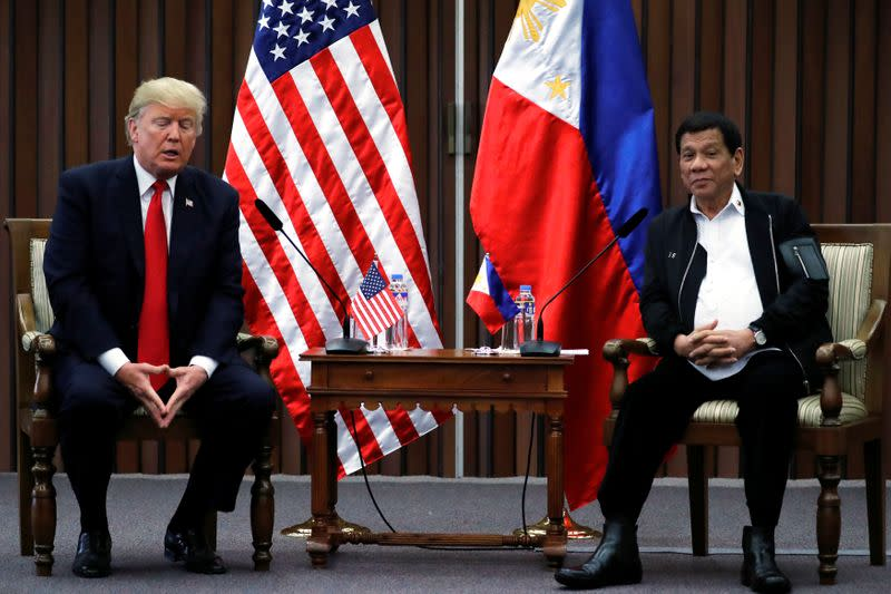 Philippines' Duterte says Trump deserves to be re-elected