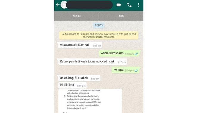 5 Chat Minta Tugas Ini Bikin Geleng Kepala Sekaligus Geregetan (sumber: Instagram.com/receh.id)