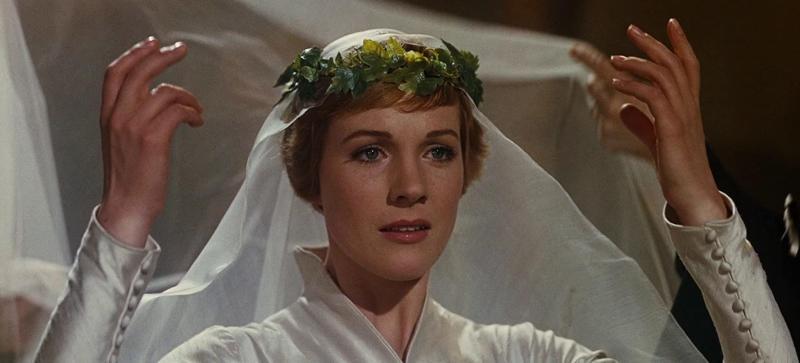 Julie Andrews as Maria von Trapp in 1966's The Sound Of Music (Image via 20th Century Fox)