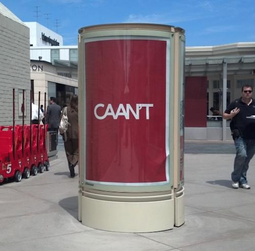 "WME Was Responsible For CAA ""CAAN'T"" Attack Ads Posted At Century City Mall"