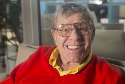 Comedian Jerry Lewis poses for portraits at the 66th international film festival, in Cannes, southern France, Friday, May 24, 2013. (Photo by Joel Ryan/Invision/AP)