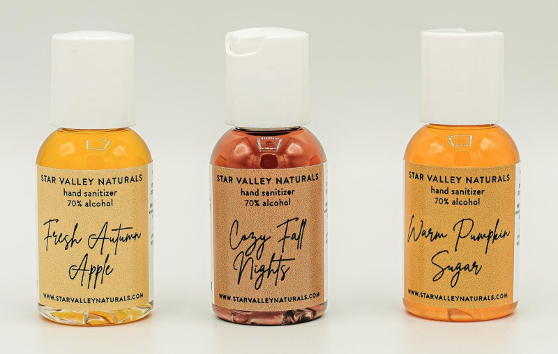 StarValleyNaturals Seasonal Hand Soap & Sanitizer Bundle - Autumn