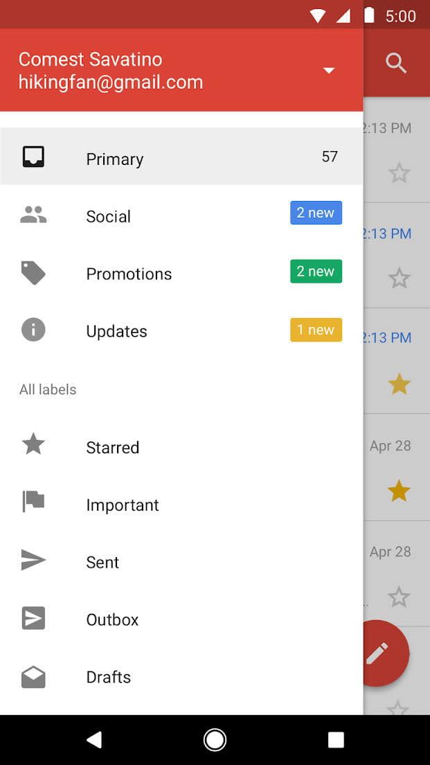 best lite apps gmail go 2