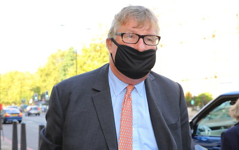 Hedge fund manager Crispin Odey arrives at Westminster Magistrates' Court, London - PA