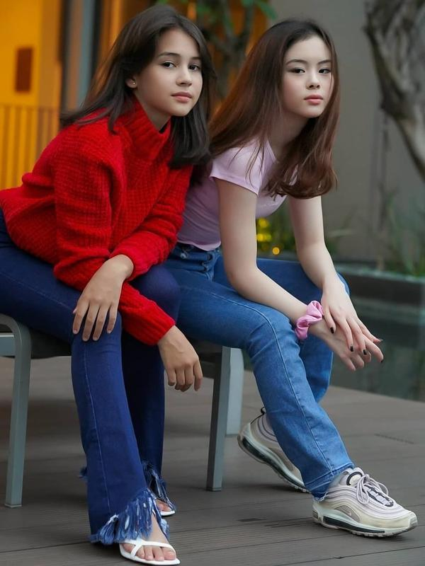 Potret Persahabatan Sandrinna Michelle dan Clarice Cutie. (Sumber: Instagram.com/sandrinna_11)