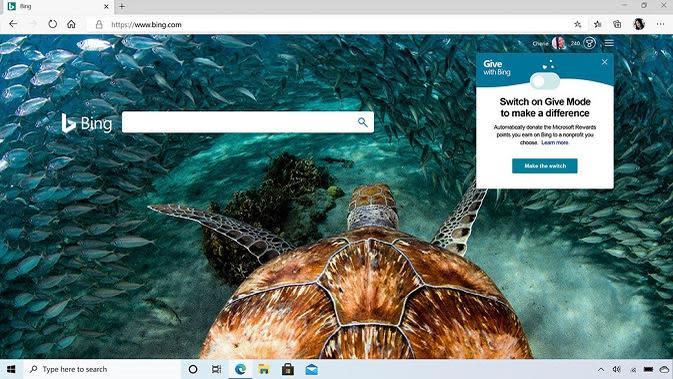 Tampilan Microsoft Edge yang sudah diperkenalkan. (Sumber: Microsoft)