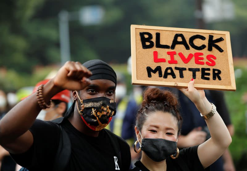 Black Lives Matter protesters march through Tokyo