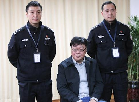 Book publisher Gui Minhai pictured in 2018 during a group interview at the Ningbo Detention Centre in Zhejiang province. Photo: Simon Song