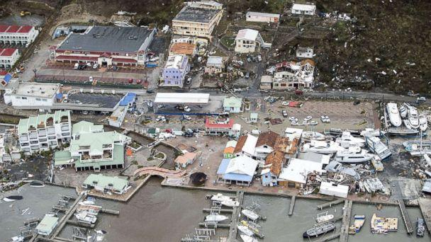 PHOTO: A view of the aftermath of Hurricane Irma on Sint Maarten Dutch part of Saint Martin island in the Caribbean, Sept. 6, 2017. (Gerben Van Es/AFP/Getty Images)