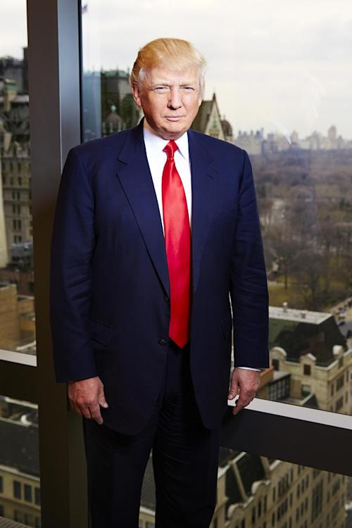 "This Feb. 26, 2013 photo shows businessman and TV personality Donald Trump from ""The Celebrity Apprentice,"" at his office at Trump Tower in New York. The two-hour premiere of ""All-Star Celebrity Apprentice"" airs Sunday at 9 p.m. EST on NBC. (Photo by Dan Hallman/Invision/AP)"