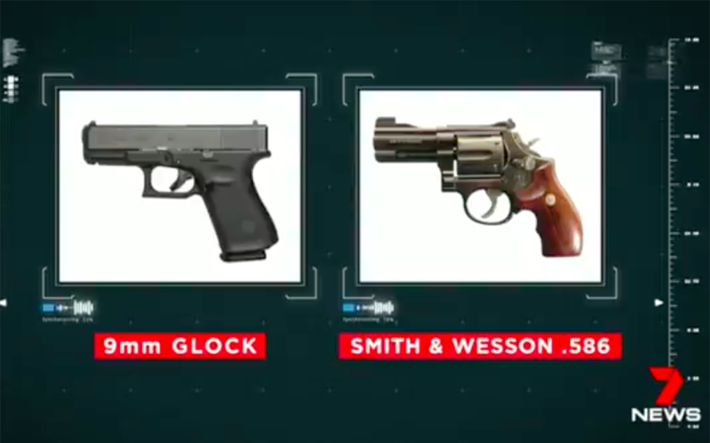 Edwards had several guns at his disposal. Source: 7 News