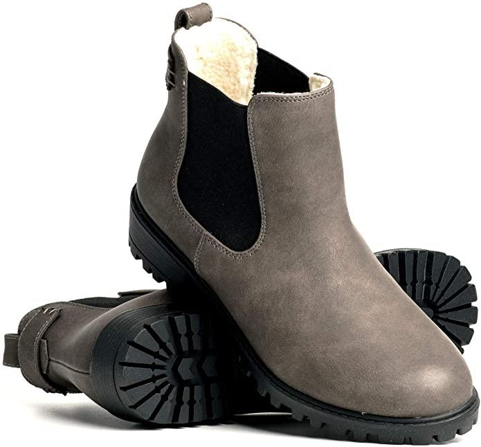 DLG Womens Brooklyn Vegan Leather Warm Lined Twin Gore Boot. Image via Amazon.