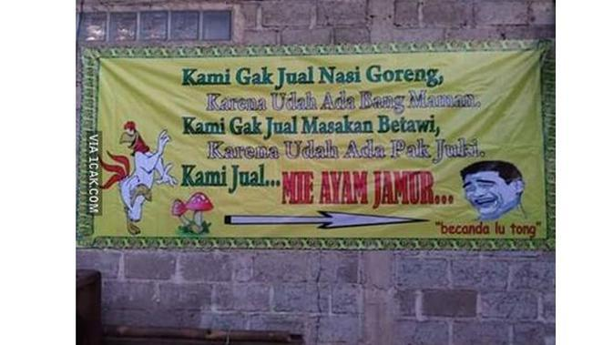 6 Spanduk Penjual Nasi Goreng Ini Bikin Tepuk Jidat (sumber: 1cak.com)