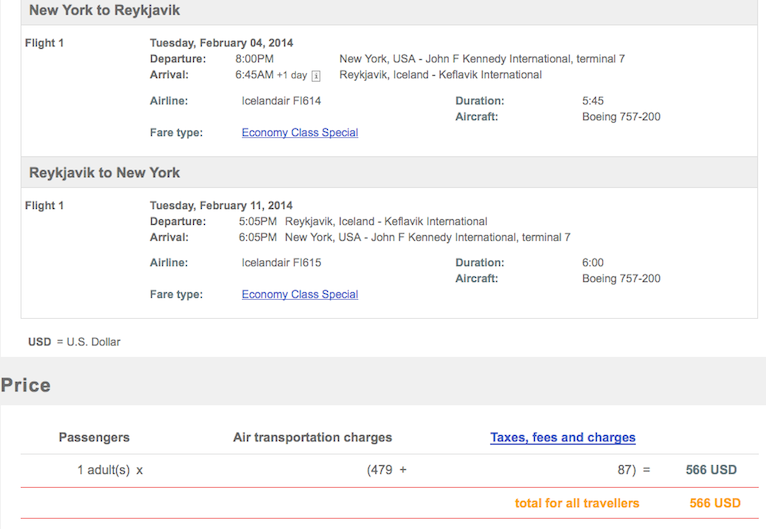 Fare of the Day: NYC to Reykjavik $566 round-trip, nonstop, incl. all taxes