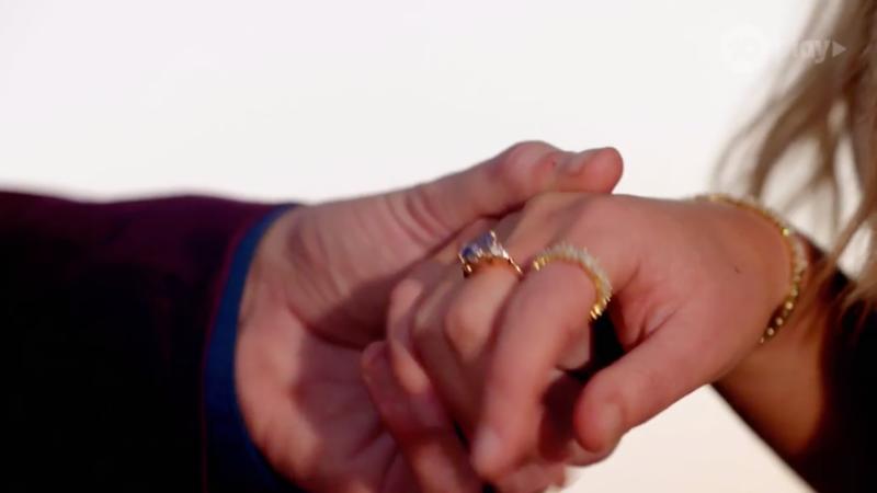 Chelsie McLeod's ring on the Bachelor Australia finale