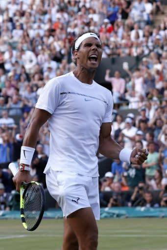 Crowd favourite: Rafael Nadal at Wimbledon in 2017