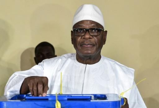 Malian President Ibrahim Boubacar Keita, pictured August 2018, was re-elected president with more than 67 percent of the vote but the outcome was challenged in constitutional court when his opponent alleged fraud