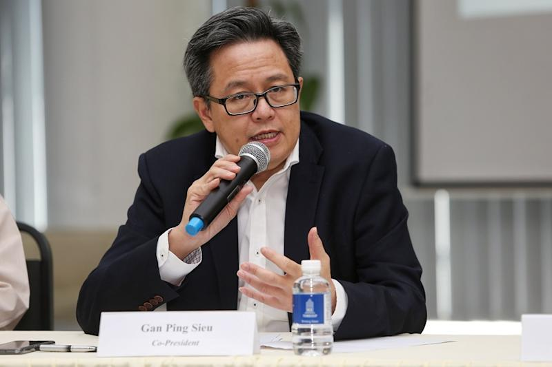 Cenbet co-president Gan Ping Sieu speaks during a media conference in Kuala Lumpur January 20, 2020.