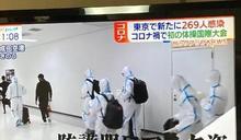 全身防護裝 中國體操隊登陸成田機場