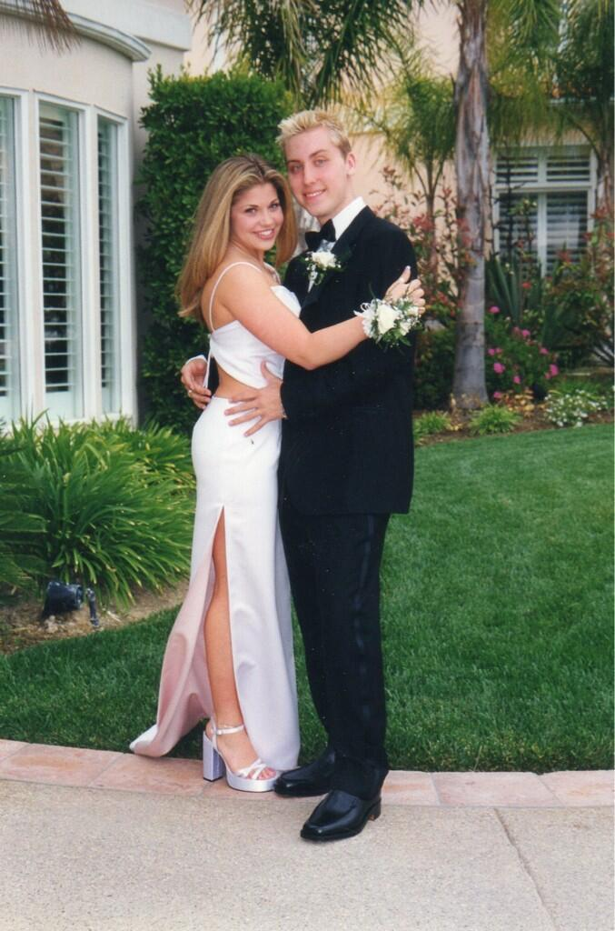 '90s Flashback! Danielle Fishel and Lance Bass at Prom [Photo]