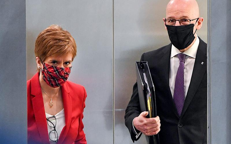 First Minister Nicola Sturgeon and Deputy First Minister John Swinney - Getty Images Europe