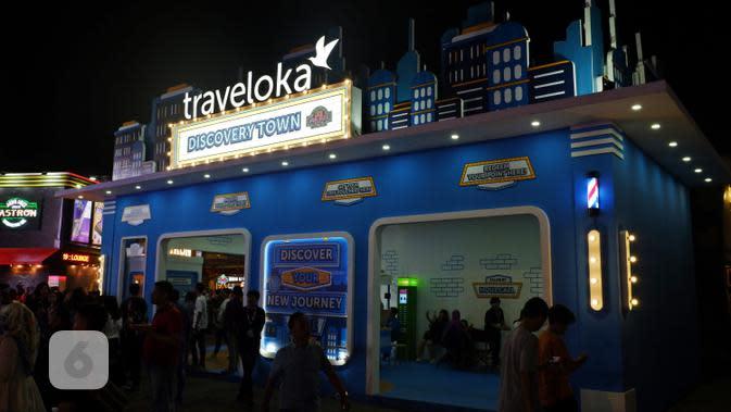 Booth Traveloka di Java Jazz Festival 2019. (Liputan6.com/Asnida Riani)