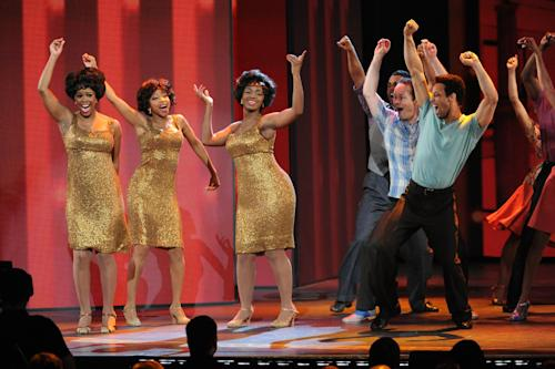 "The cast of ""Motown The Musical"" performs at the 67th Annual Tony Awards, on Sunday, June 9, 2013 in New York. (Photo by Evan Agostini/Invision/AP)"