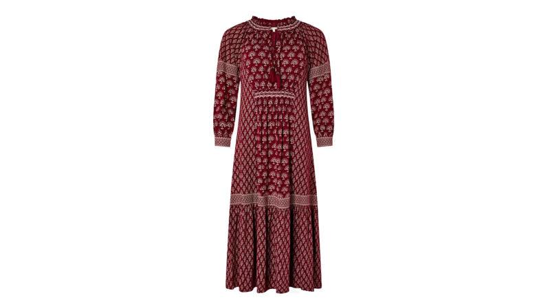 Monsoon Heshna Abstract Midi Dress