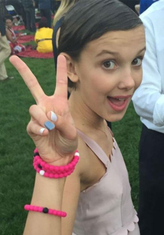 Millie's parents almost went bankrupt supporting her acting career. Photo: Instagram