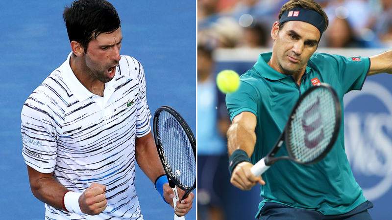 Novak Djokovic and Roger Federer both cruised into the next round in Cincinnati. Image: Getty