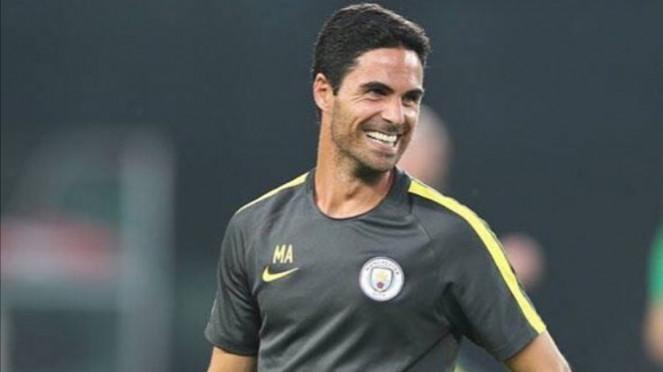 Asisten manajer Manchester City, Mikel Arteta.