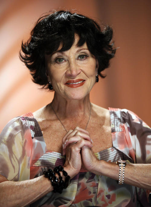 FILE - This Aug. 19, 2009 file photo shows actress Chita Rivera during an interview in New York. Rivera will celebrate her 80th birthday by performing a one-night-only show benefiting Broadway Cares/Equity Fights AIDS. Two-time Tony Award-winning singer, dancer and actress will play the August Wilson Theatre on Oct. 7 in a show written by Terrence McNally and directed by Graciela Daniele. Rivera turned 80 on Jan. 23. (AP Photo/Richard Drew, file)