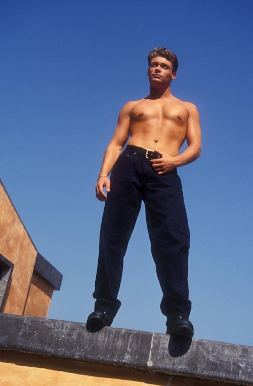 Seacrest Pecs Out! Behold Ryan's Shirtless '90s Modeling Pic